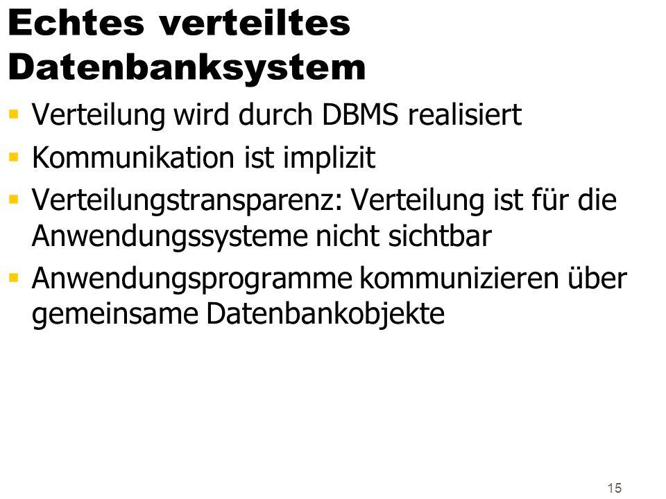 Echtes verteiltes Datenbanksystem