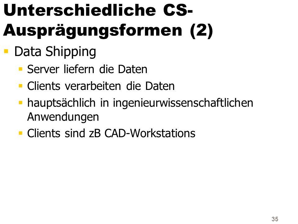 Unterschiedliche CS-Ausprägungsformen (2)