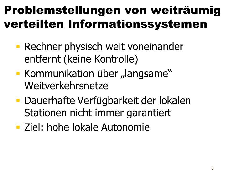 Problemstellungen von weiträumig verteilten Informationssystemen