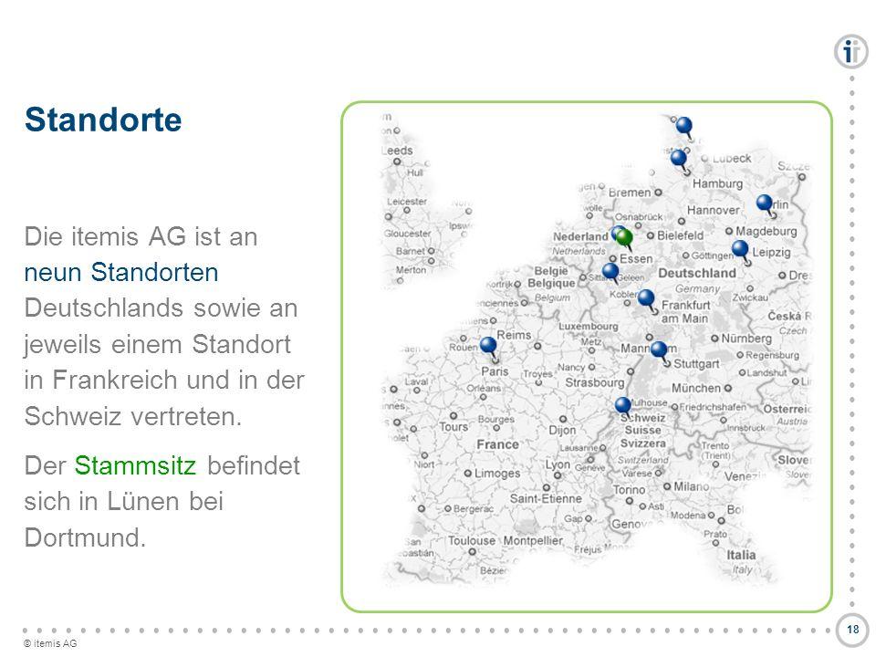 Standorte Die itemis AG ist an neun Standorten Deutschlands sowie an jeweils einem Standort in Frankreich und in der Schweiz vertreten.