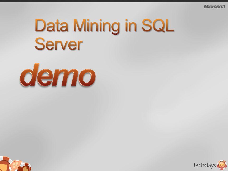 Data Mining in SQL Server