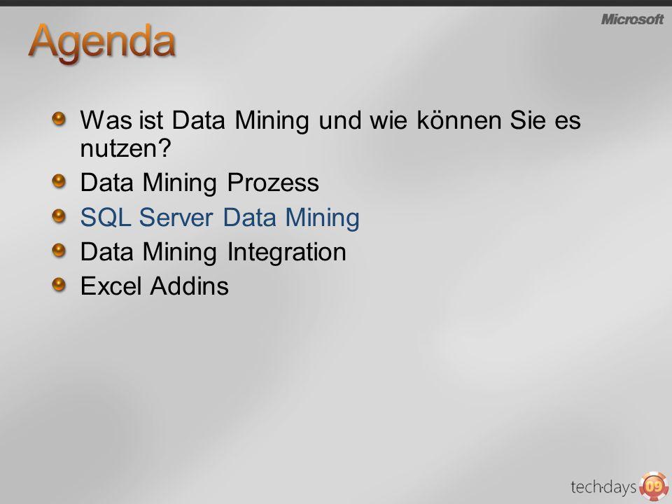 Agenda Was ist Data Mining und wie können Sie es nutzen