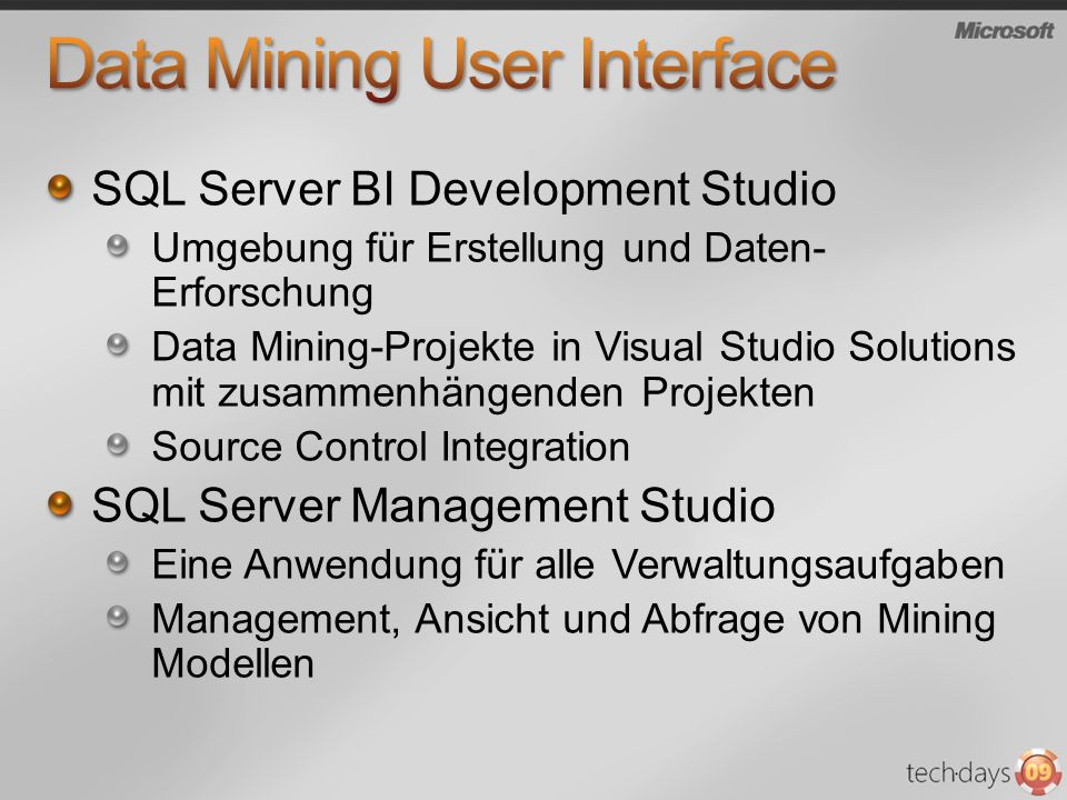 Data Mining User Interface