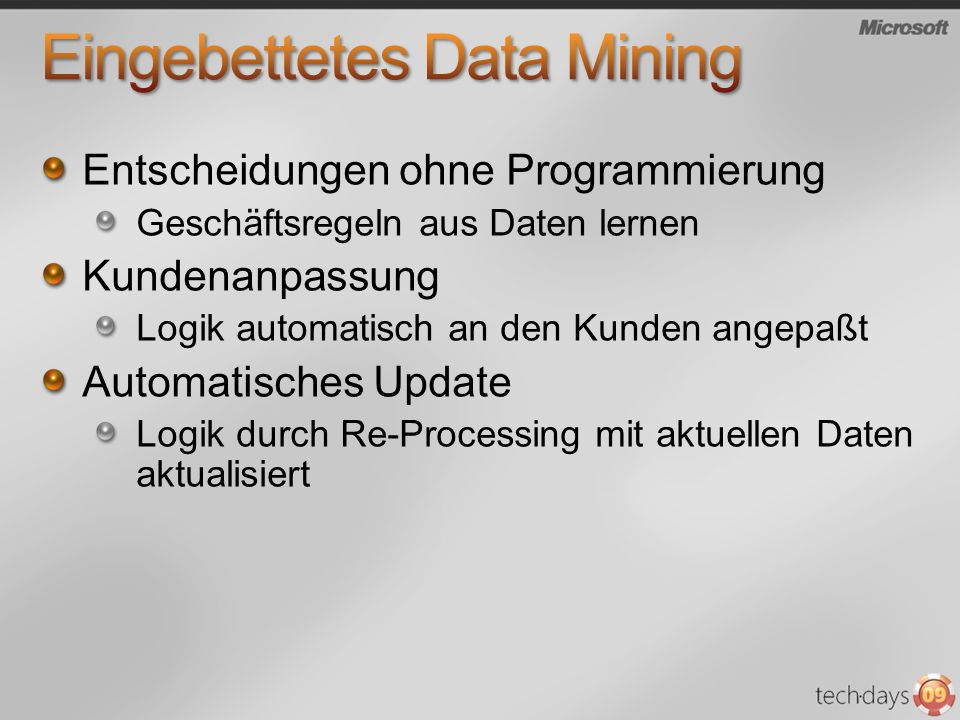 Eingebettetes Data Mining