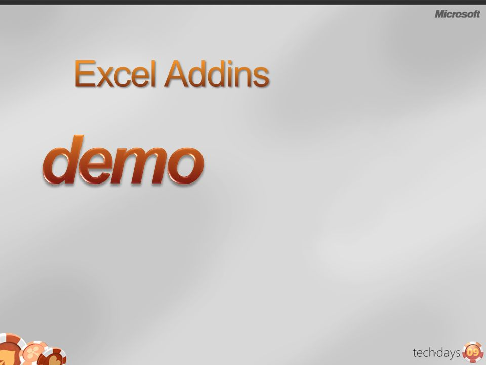 demo Excel Addins 3/28/2017 6:26 PM