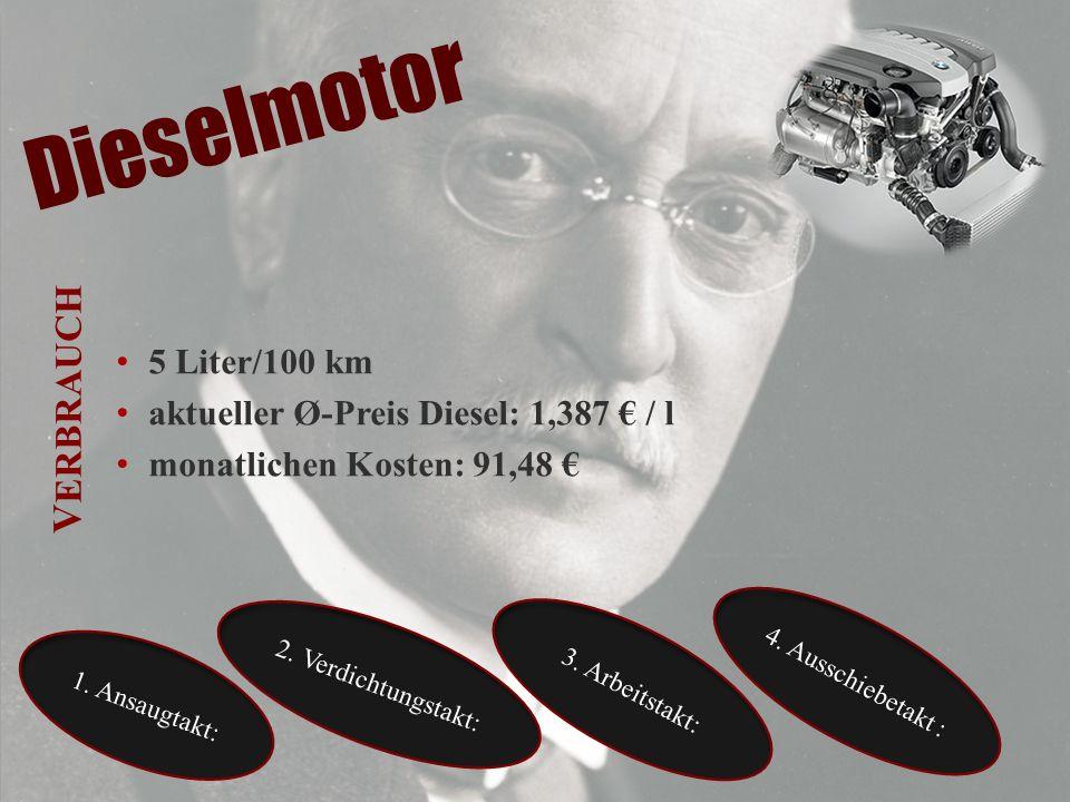Dieselmotor Verbrauch 5 Liter/100 km