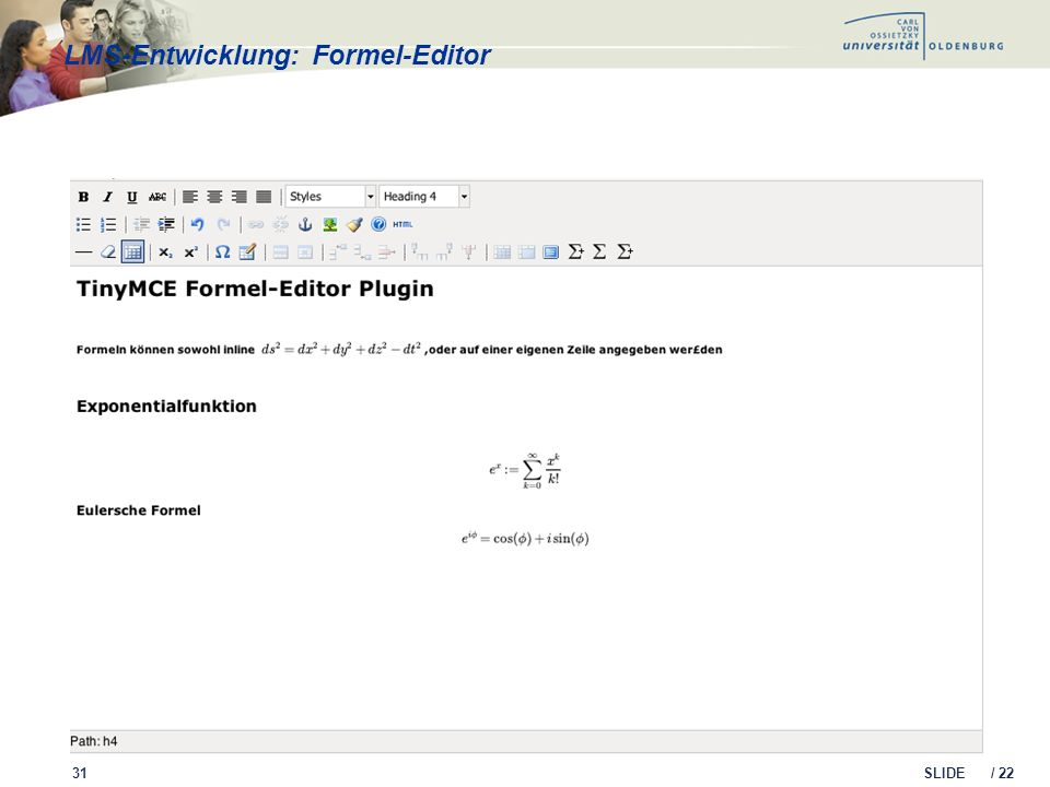 LMS-Entwicklung: Formel-Editor