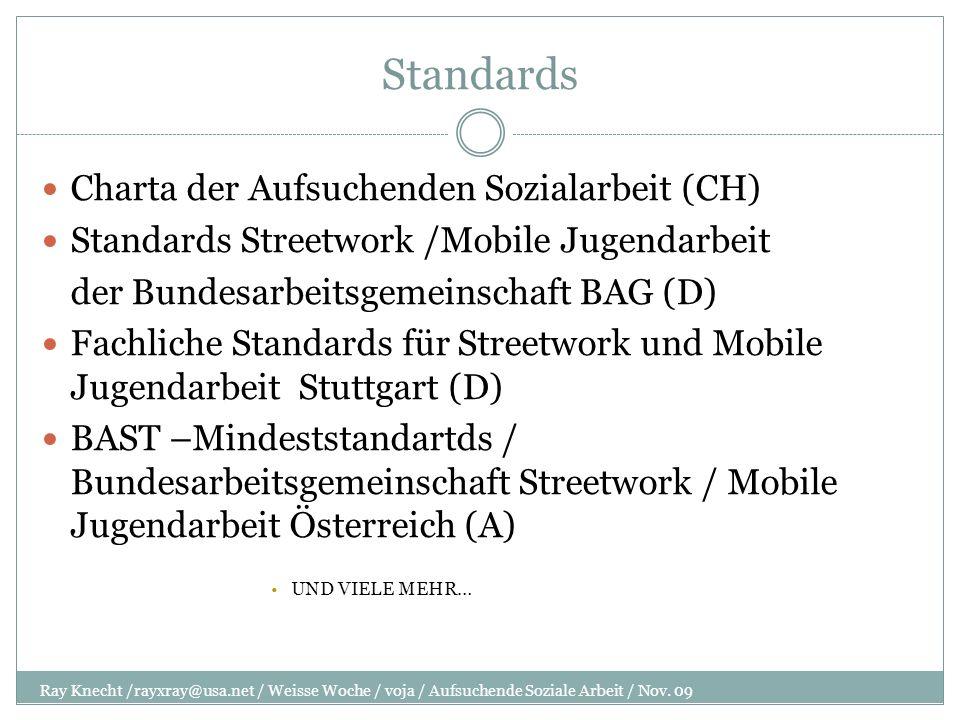 Standards Charta der Aufsuchenden Sozialarbeit (CH)