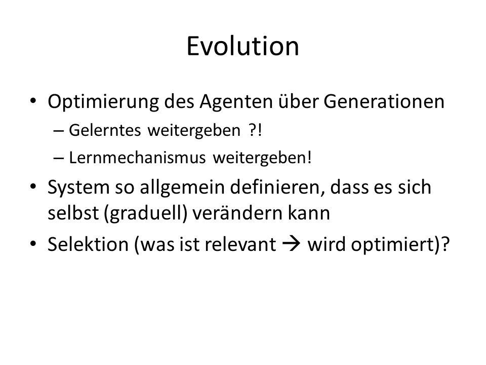 Evolution Optimierung des Agenten über Generationen