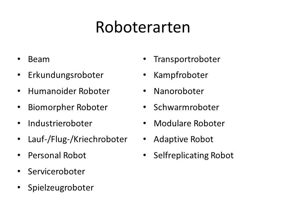 Roboterarten Beam Transportroboter Erkundungsroboter Kampfroboter