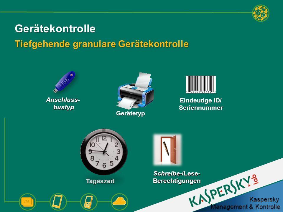 Gerätekontrolle Tiefgehende granulare Gerätekontrolle Anschluss-