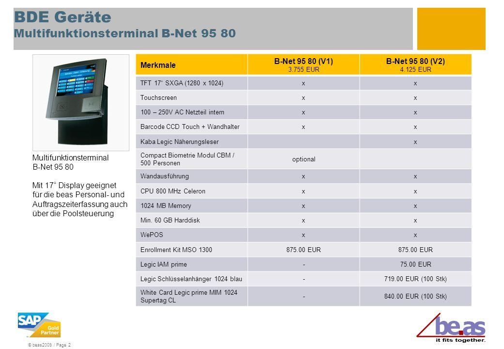 BDE Geräte Multifunktionsterminal B-Net 95 80