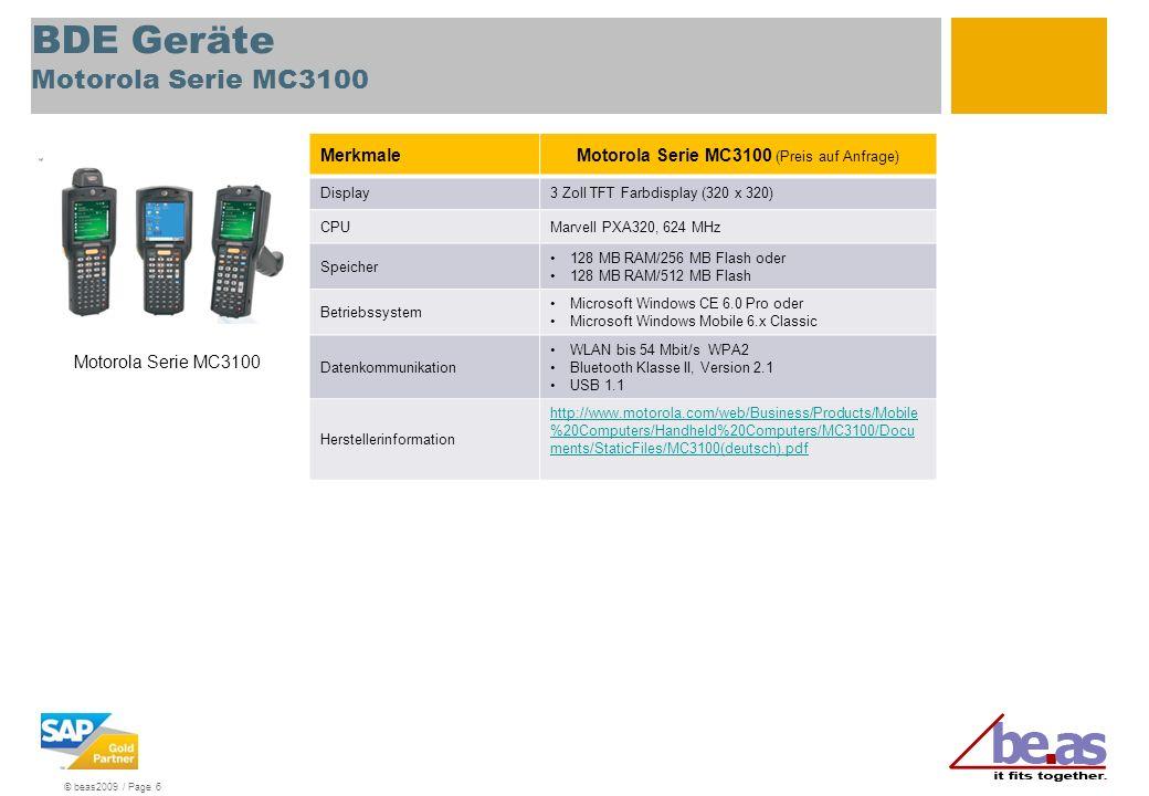 BDE Geräte Motorola Serie MC3100