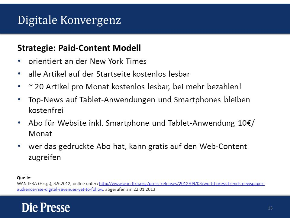 Digitale Konvergenz Strategie: Paid-Content Modell