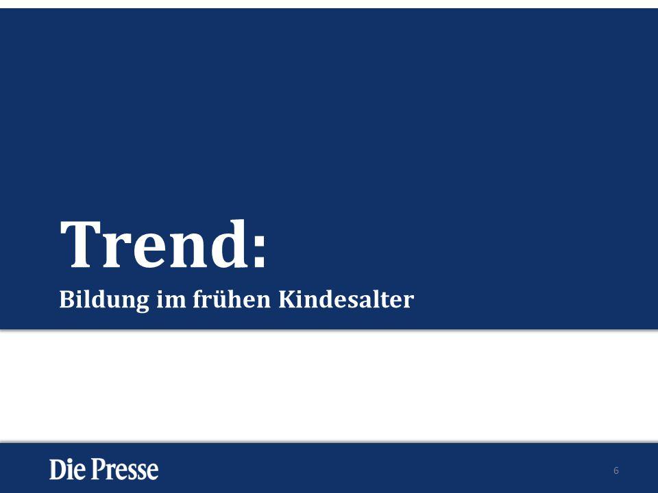 Trend: Bildung im frühen Kindesalter