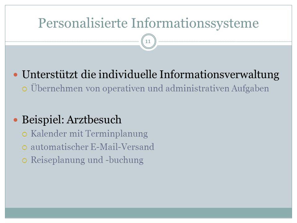 Personalisierte Informationssysteme