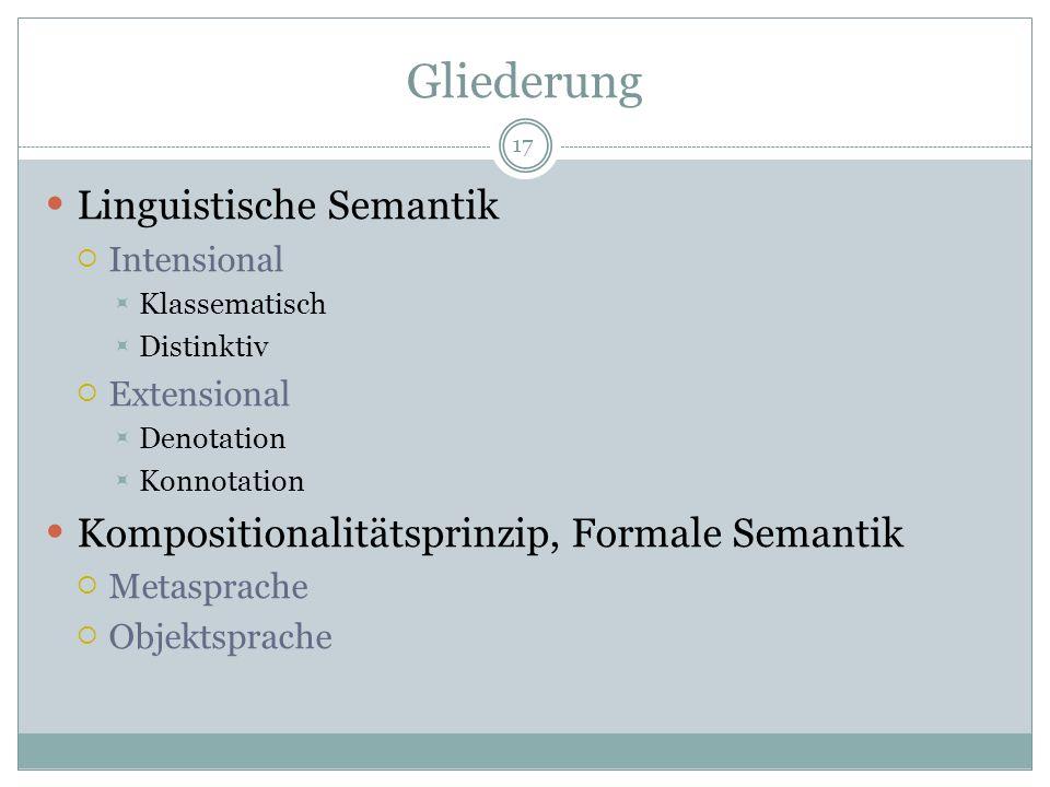Gliederung Linguistische Semantik