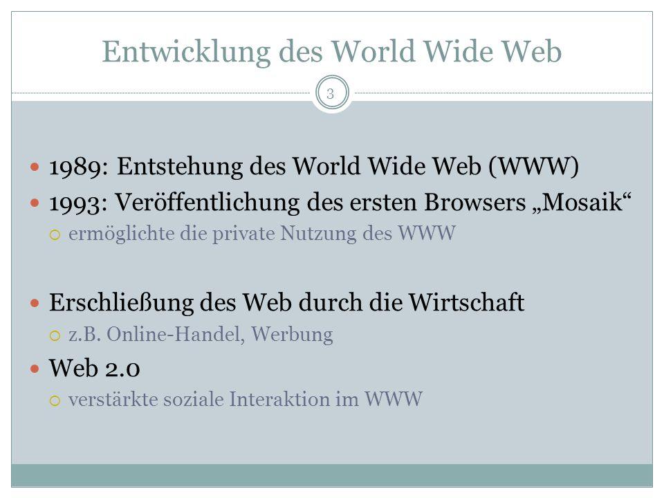 Entwicklung des World Wide Web