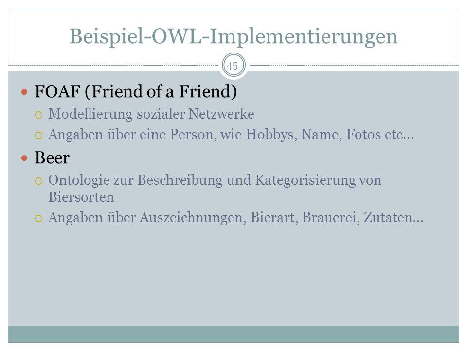 Beispiel-OWL-Implementierungen