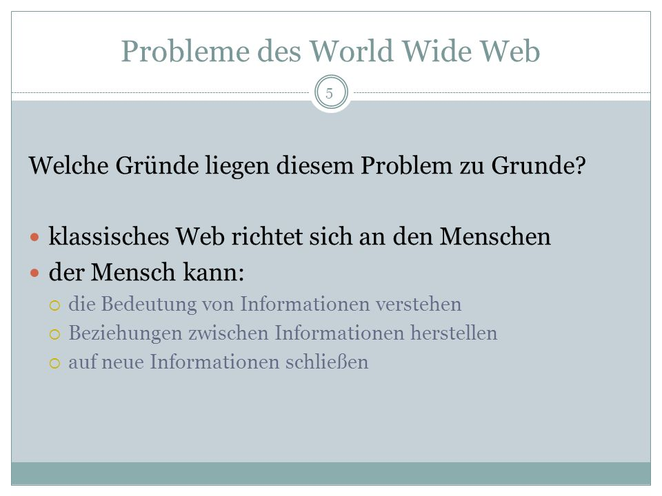 Probleme des World Wide Web