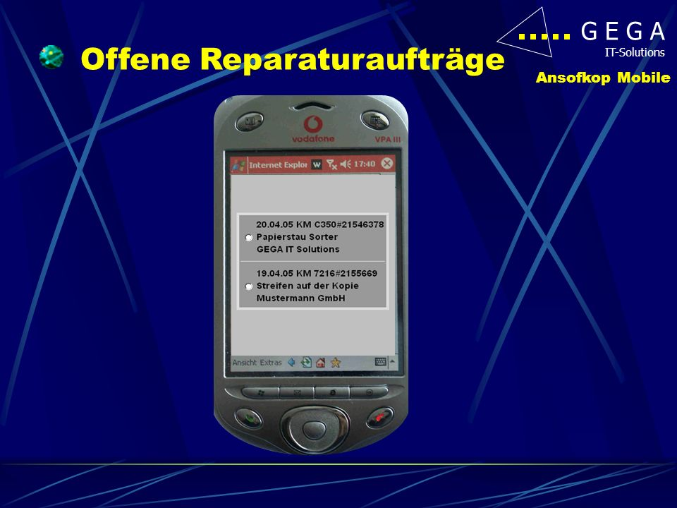 Offene Reparaturaufträge