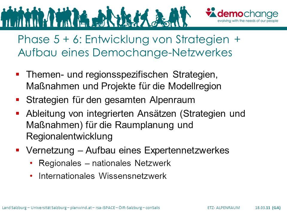 Phase 5 + 6: Entwicklung von Strategien + Aufbau eines Demochange-Netzwerkes