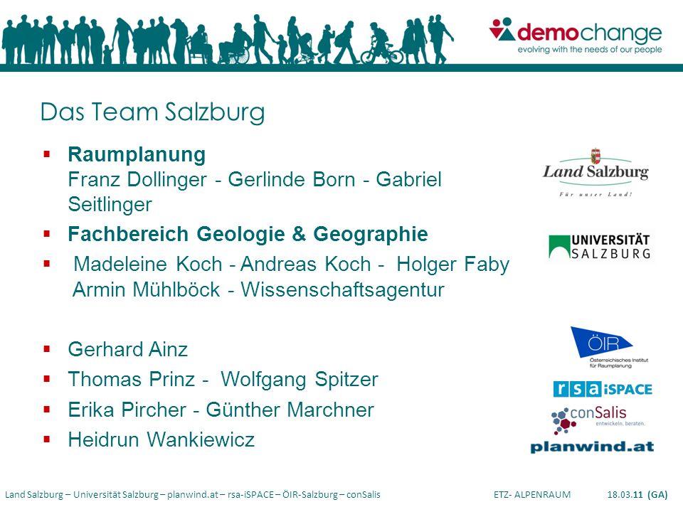 Das Team Salzburg Raumplanung Franz Dollinger - Gerlinde Born - Gabriel Seitlinger. Fachbereich Geologie & Geographie.