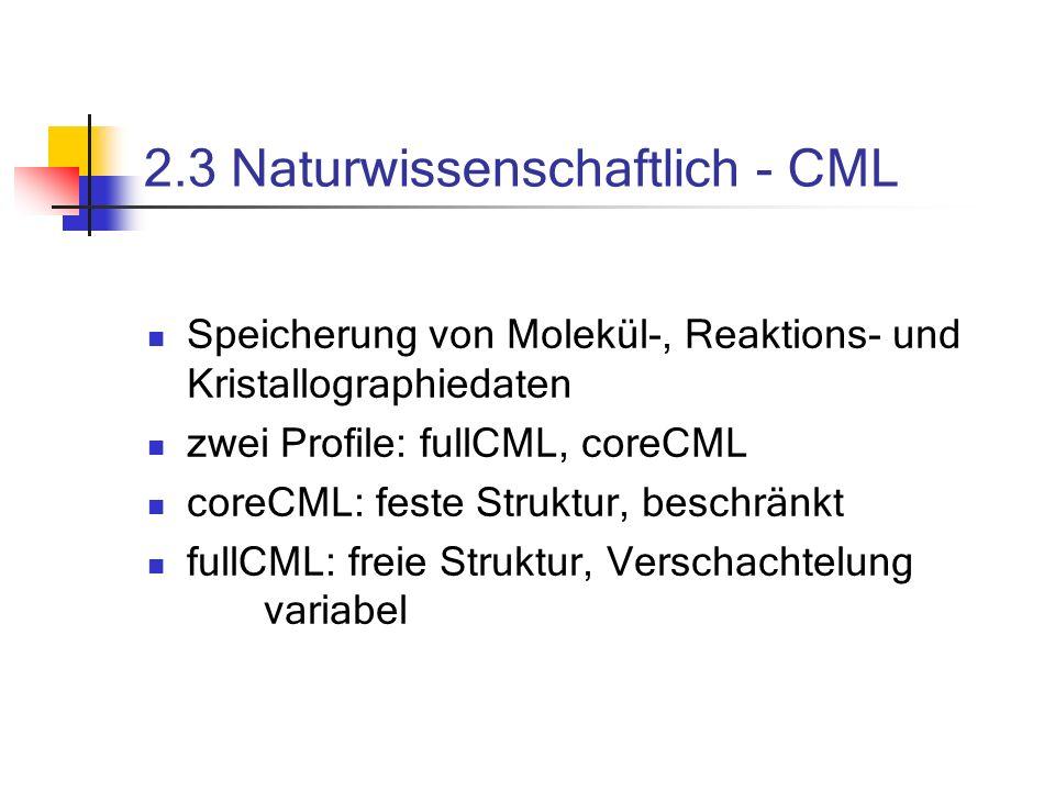 2.3 Naturwissenschaftlich - CML