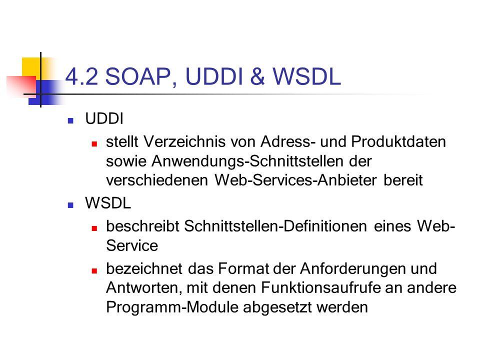 4.2 SOAP, UDDI & WSDL UDDI.