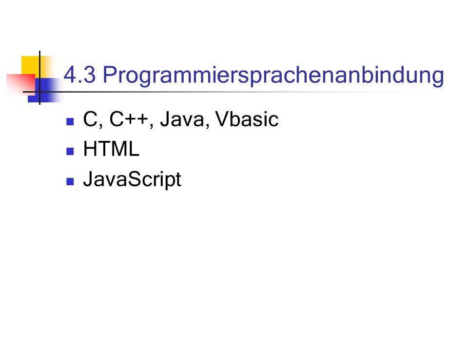 4.3 Programmiersprachenanbindung