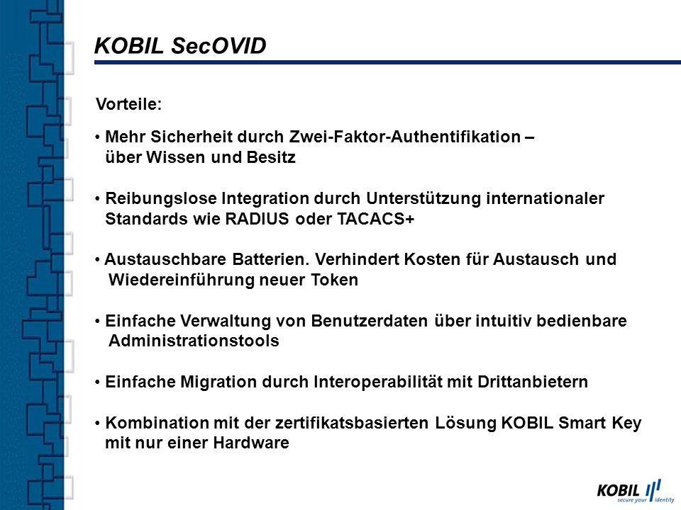 KOBIL SecOVID Vorteile: