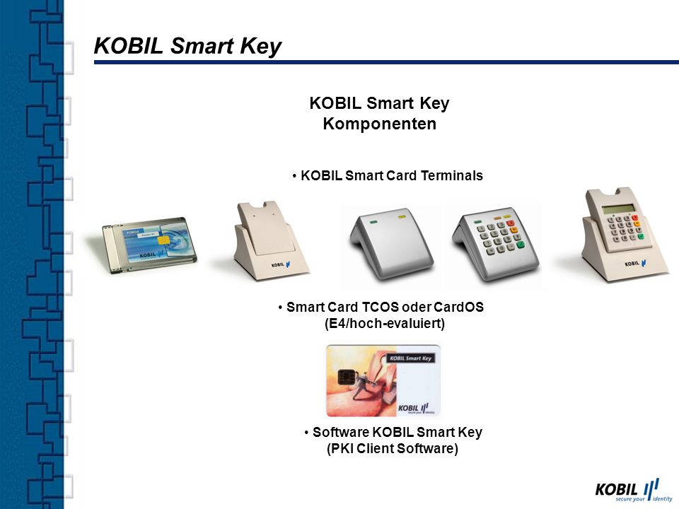KOBIL Smart Key KOBIL Smart Key Komponenten KOBIL Smart Card Terminals
