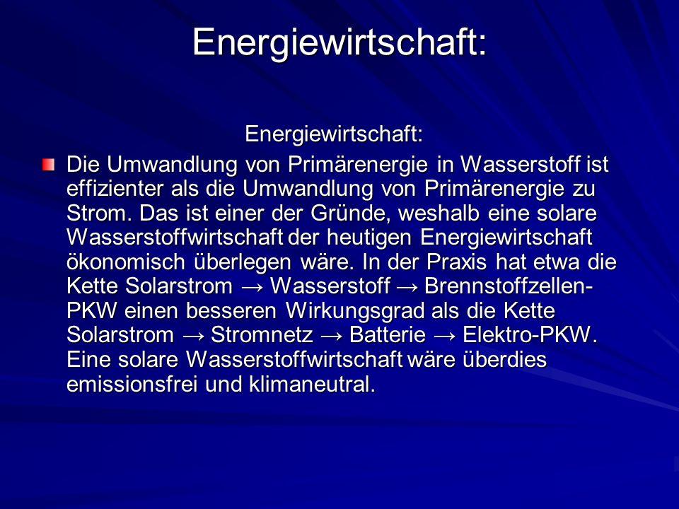 Energiewirtschaft: Energiewirtschaft: