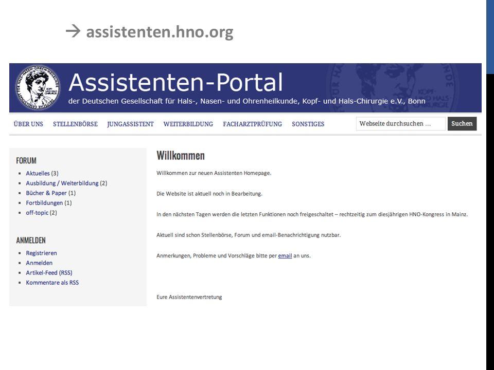  assistenten.hno.org