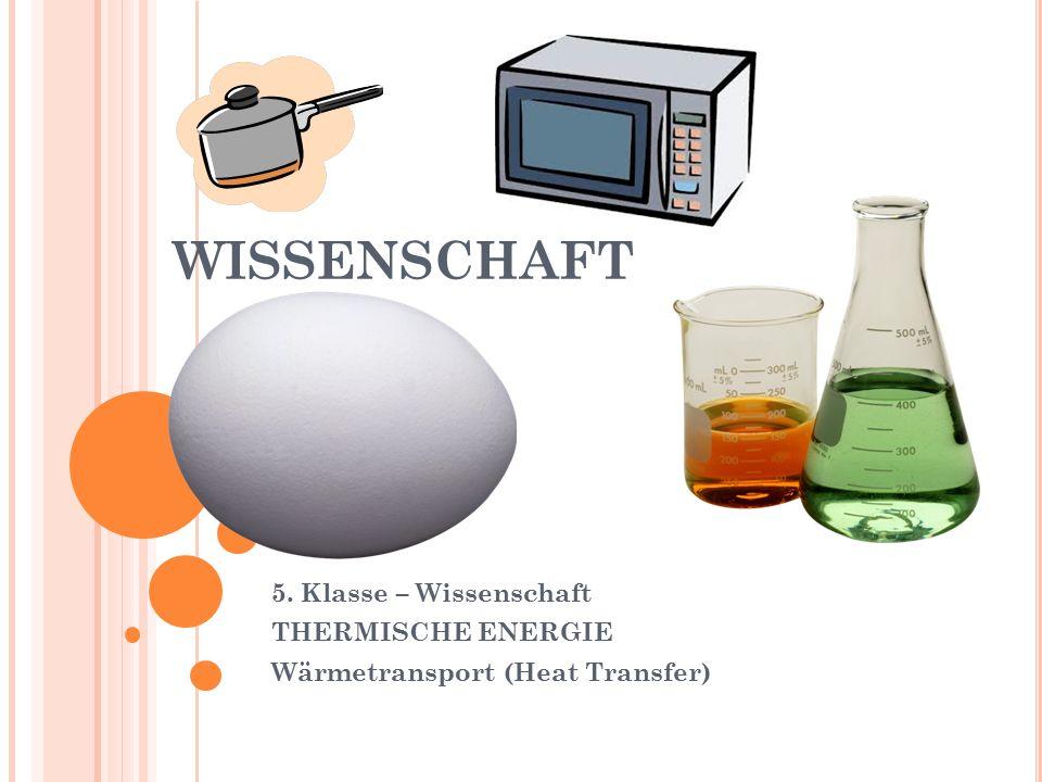 WISSENSCHAFT 5. Klasse – Wissenschaft THERMISCHE ENERGIE