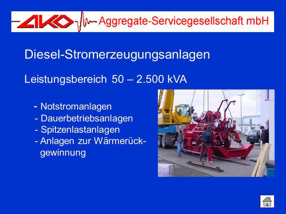 Diesel-Stromerzeugungsanlagen