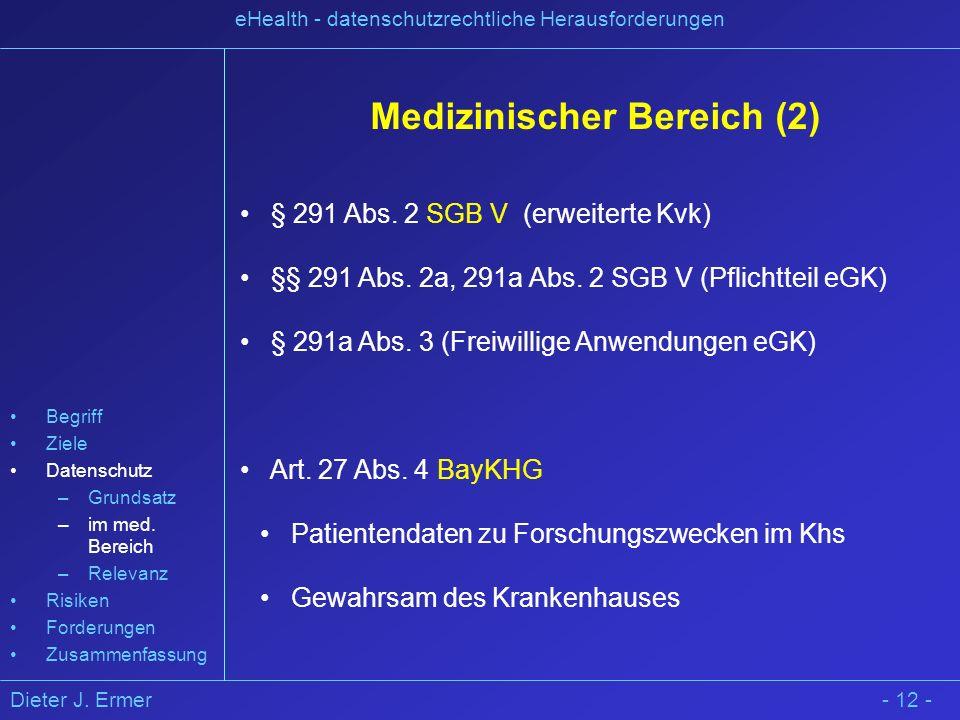 Medizinischer Bereich (2)