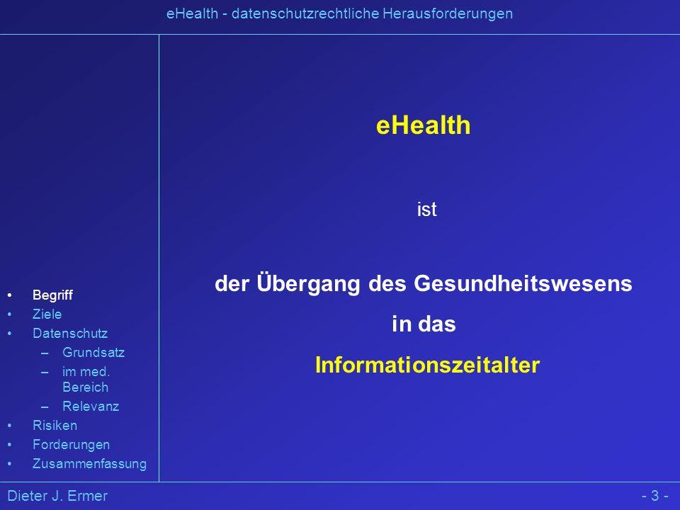 der Übergang des Gesundheitswesens