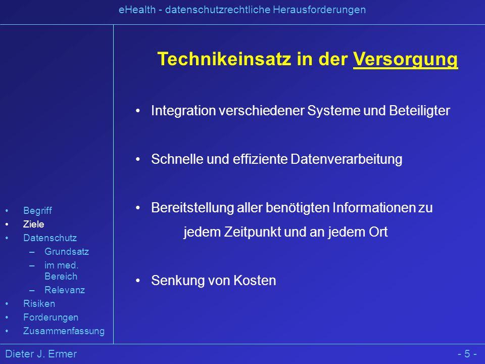 Technikeinsatz in der Versorgung