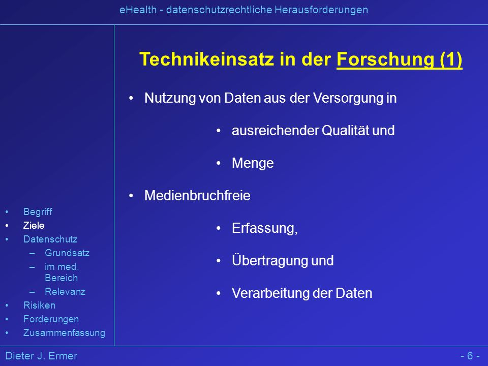 Technikeinsatz in der Forschung (1)