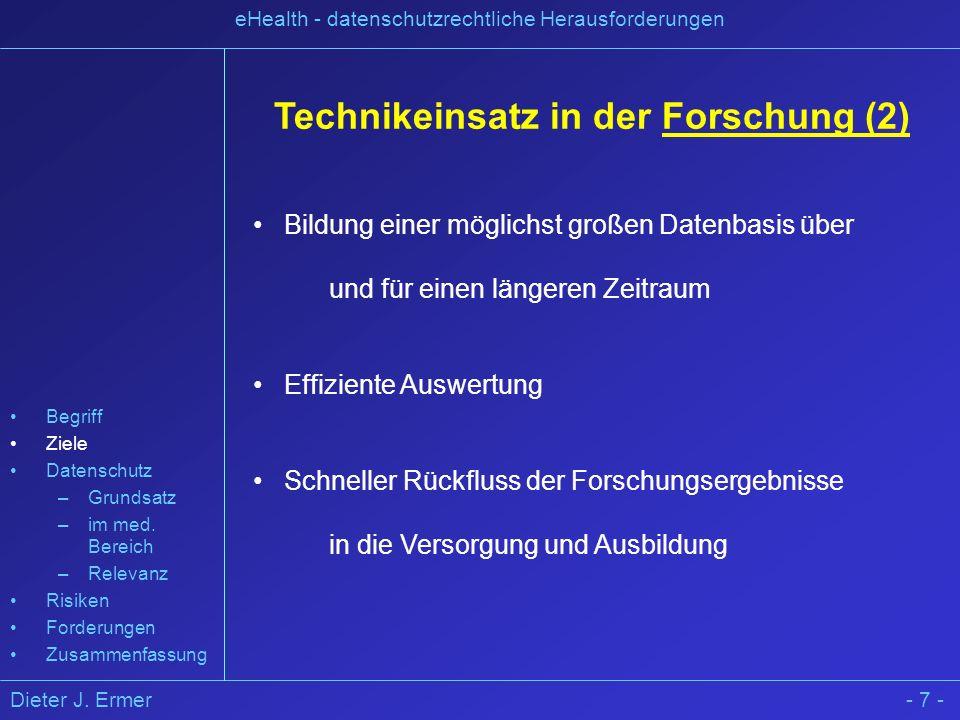 Technikeinsatz in der Forschung (2)