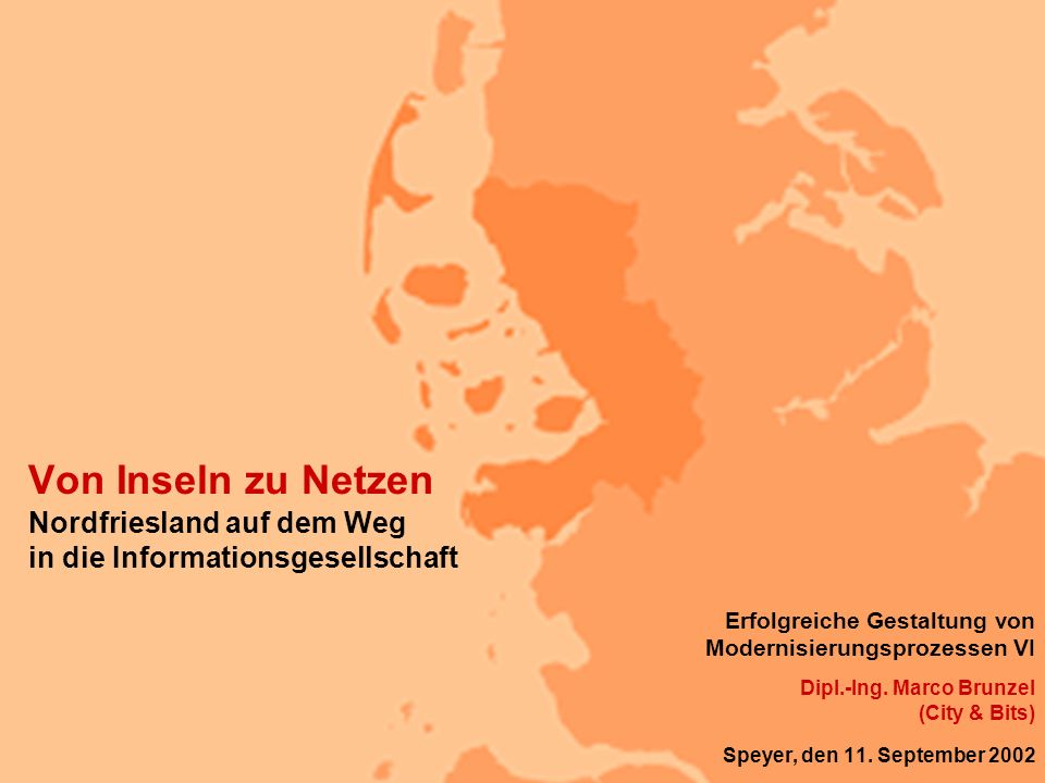 Von Inseln zu Netzen Nordfriesland auf dem Weg in die Informationsgesellschaft