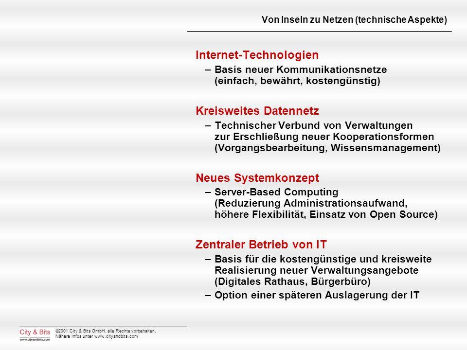 Von Inseln zu Netzen (technische Aspekte)