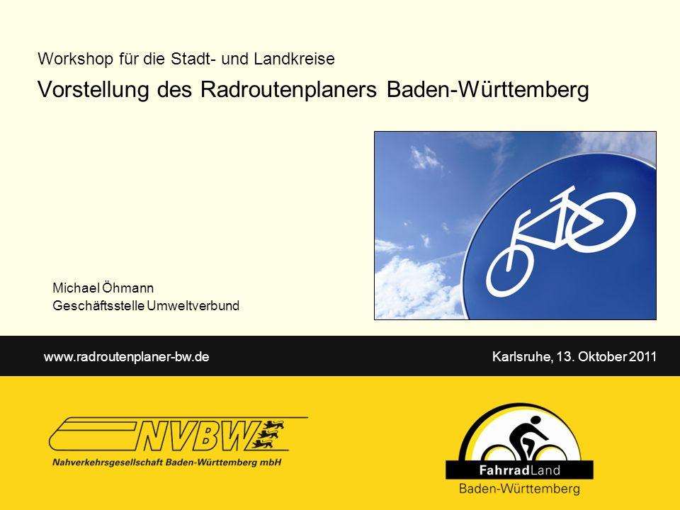 Vorstellung des Radroutenplaners Baden-Württemberg