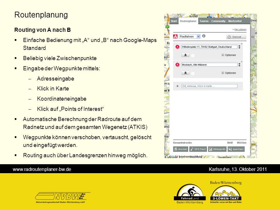 Routenplanung Routing von A nach B
