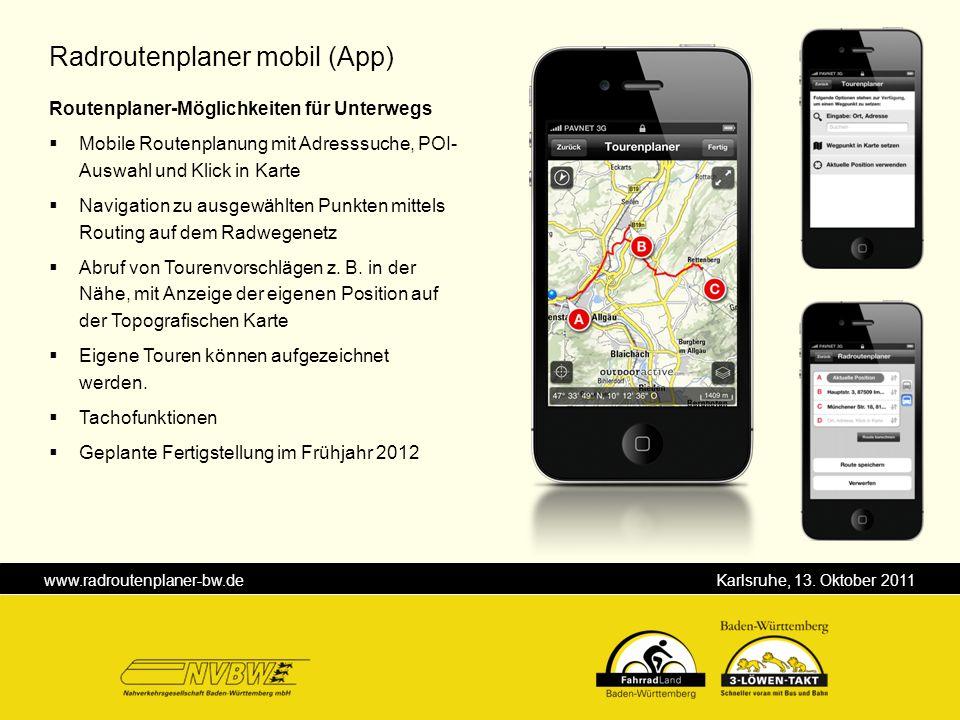 Radroutenplaner mobil (App)
