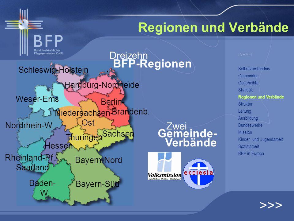 Regionen und Verbände >>> BFP-Regionen Gemeinde- Verbände