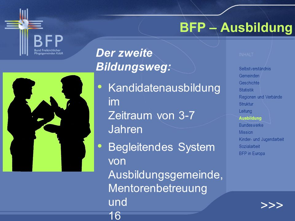 BFP – Ausbildung >>> Der zweite Bildungsweg: