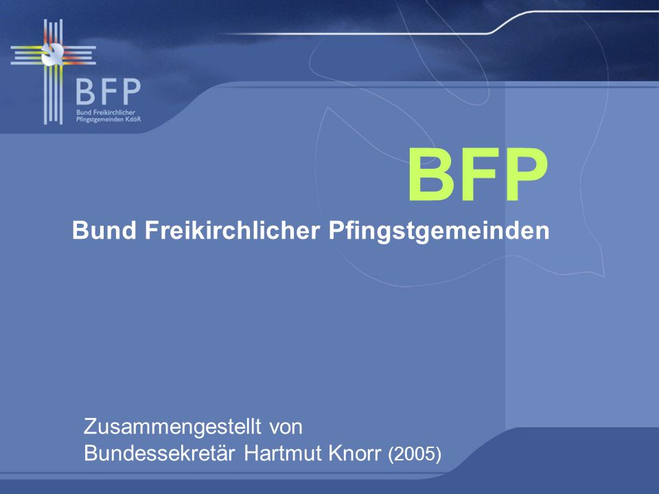 BFP Bund Freikirchlicher Pfingstgemeinden