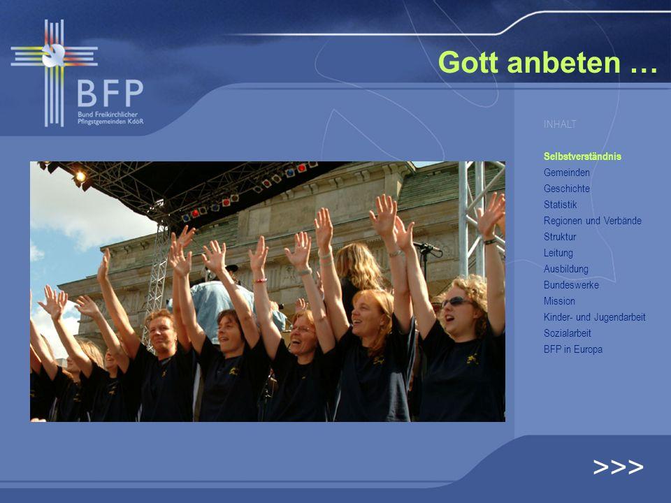 Gott anbeten … >>> INHALT Selbstverständnis Gemeinden